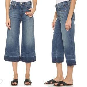 McGuire Bessette Wide Leg Raw Hem Culottes Jeans
